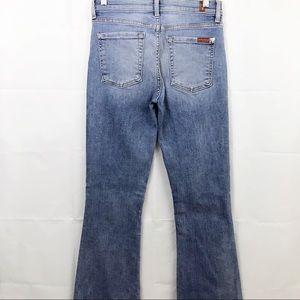 7 Seven For All Mankind Ali Flare Jeans Frayed Hem